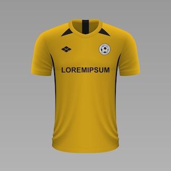 Camisa de futebol realista young boys, modelo de camisa para kit de futebol