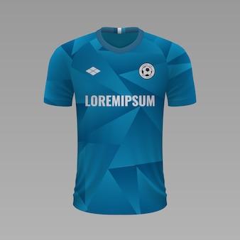 Camisa de futebol realista zenit, modelo de camisa para kit de futebol