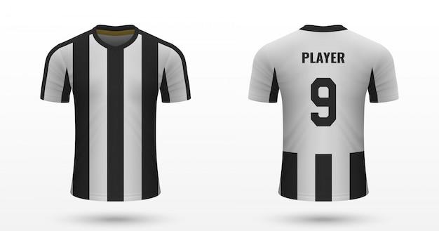 Camisa de futebol realista