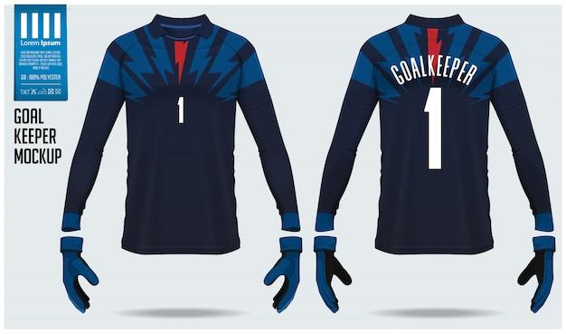 Camisa de goleiro ou kit de futebol.
