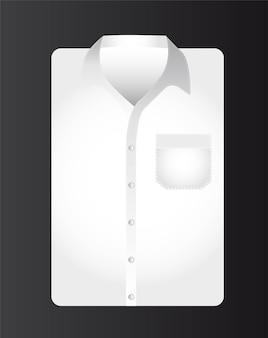 Camisa de homem de negócios sobre fundo preto