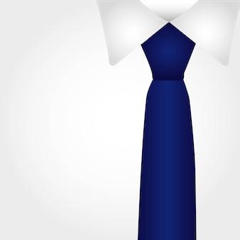 Camisa de negócios com gravata azul ilustração vetorial de fundo