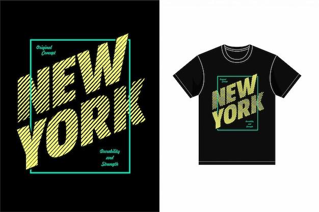 Camisa gráfica de new york t da tipografia