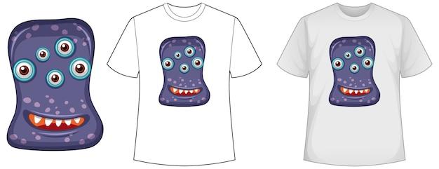 Camisa modelo com vírus