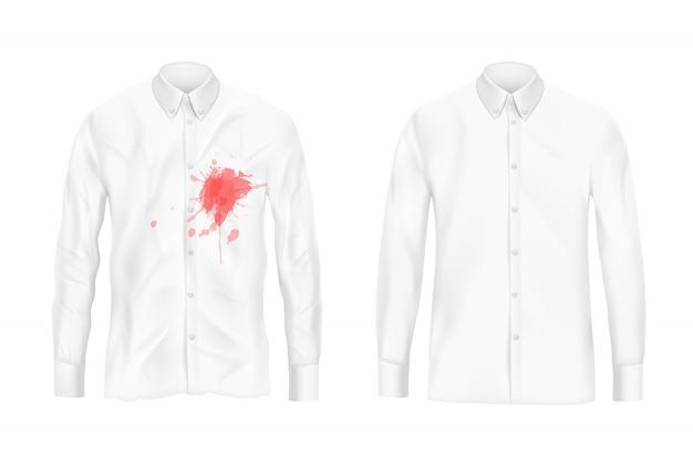 Camisa removedor de remoção de manchas conceito de vetor de experiência
