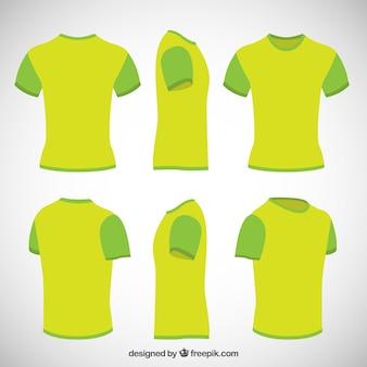 Camisas em verde limão cor