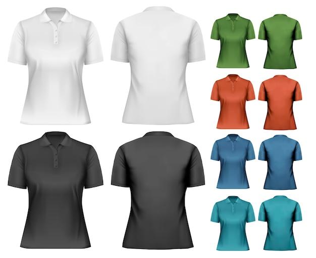 Camisas polo femininas.