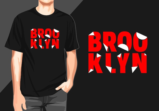 Camiseta casual do brooklyn