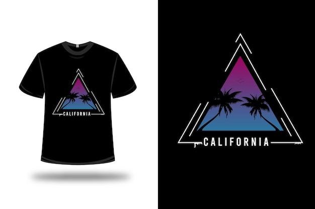 Camiseta com design colorido da califórnia