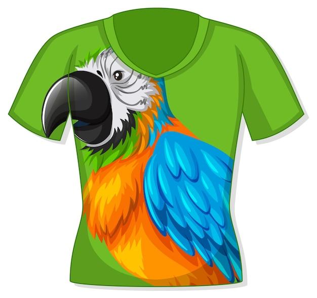 Camiseta com estampa de pássaro papagaio