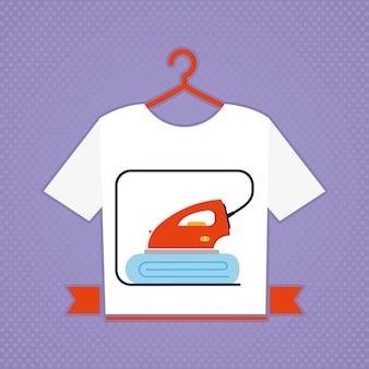 Camiseta com ilustração de estampa de ferro