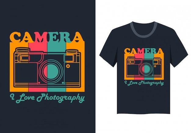 Camiseta da câmera