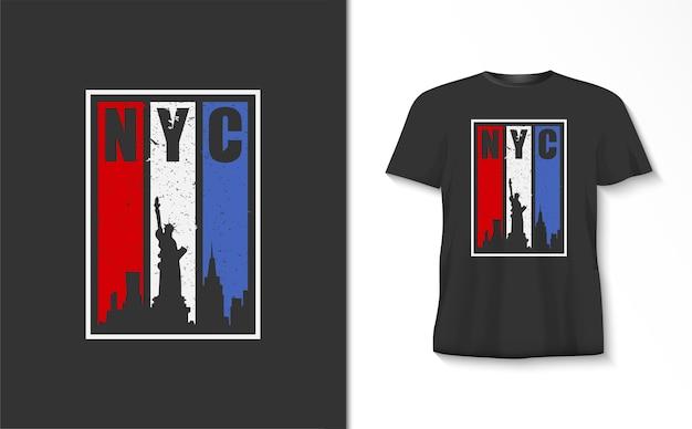 Camiseta da cidade de nova iorque
