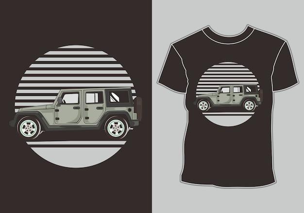 Camiseta de carro, isolada fácil de