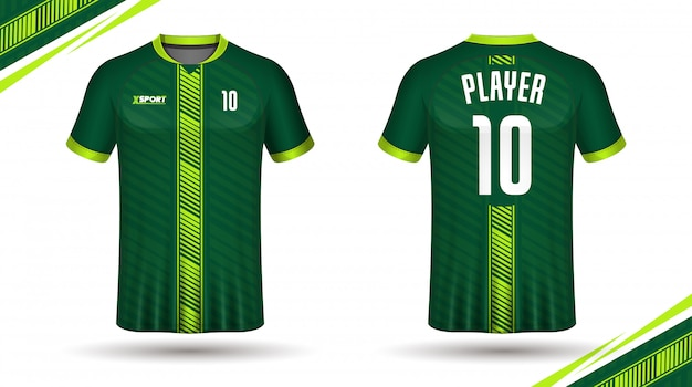 Camiseta de esporte de modelo de camisa de futebol