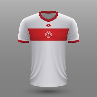 Camiseta de futebol realista da turquia