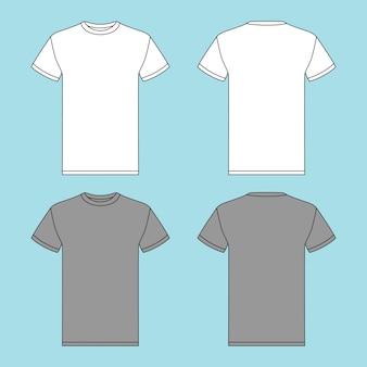 Camiseta de gola redonda com duas cores diferentes