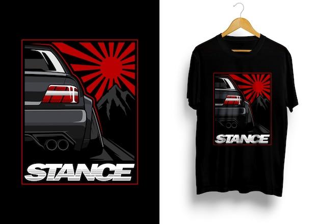 Camiseta de ilustração do carro jdm