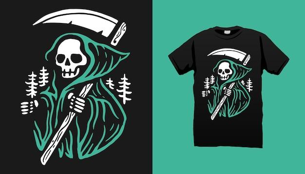 Camiseta do mal de esqueleto