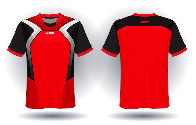 Camiseta esporte de jersey de futebol.