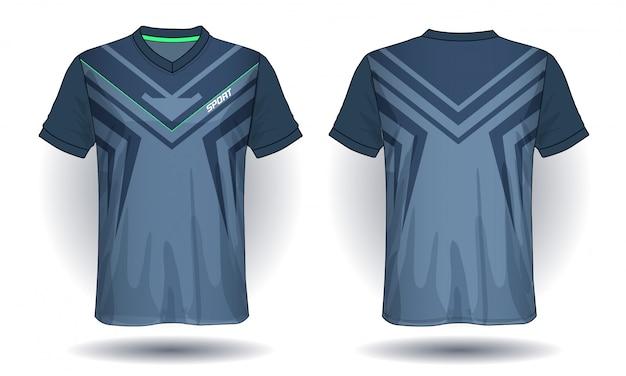 Camiseta esporte de jersey de futebol. Vetor Premium