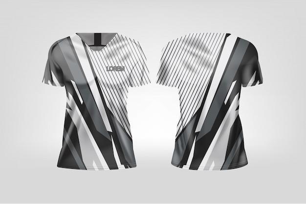 Camiseta esporte para mulheres, camisa de futebol para clube de futebol.
