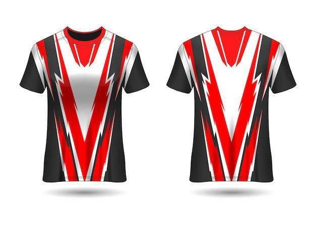 Camiseta esportiva tshirt sport design para vista frontal e traseira do uniforme do clube