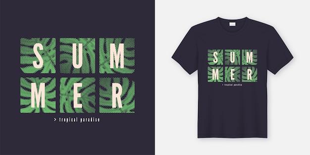 Camiseta estilo verão tropical e roupas com estampa moderna