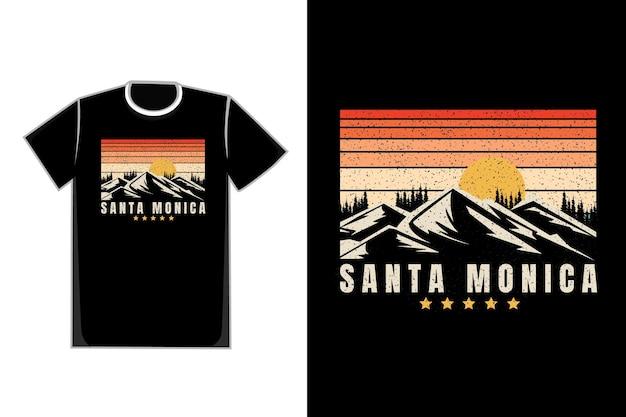Camiseta estrela do sol nas montanhas de santa monica