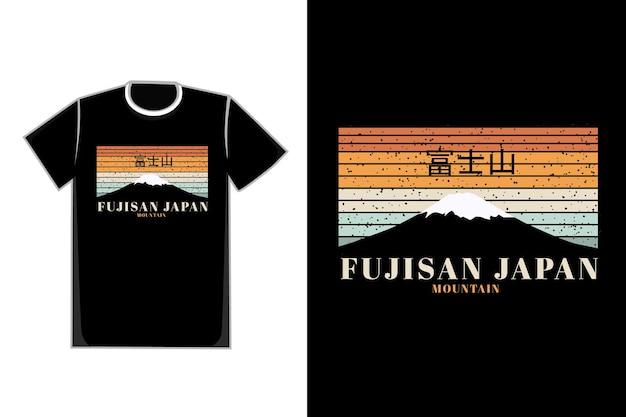Camiseta fuji montanha fujisan japão montanha