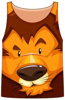 Camiseta regata com estampa de rosto de leão