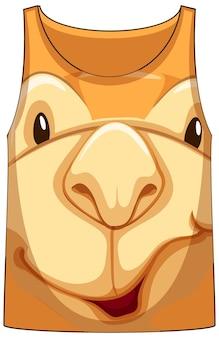 Camiseta regata com rosto de padrão camelo