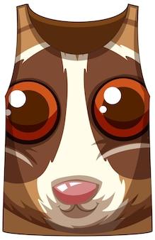 Camiseta regata com rosto de padrão loris lento