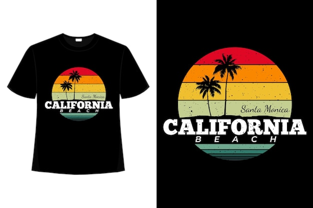 Camiseta retro california beach santa monica