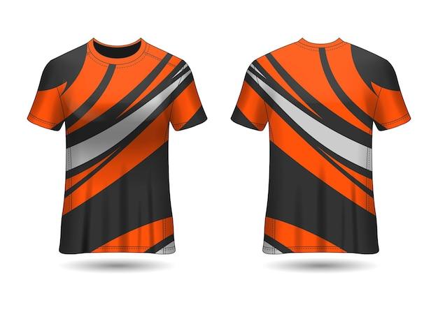 Camiseta sport design racing para vista frontal e traseira do uniforme do clube