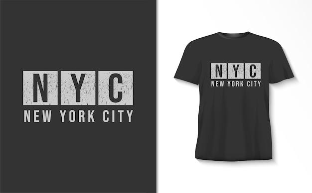Camiseta tipografia nova iorque