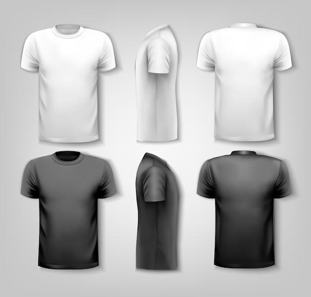 Camisetas com espaço de texto de amostra.