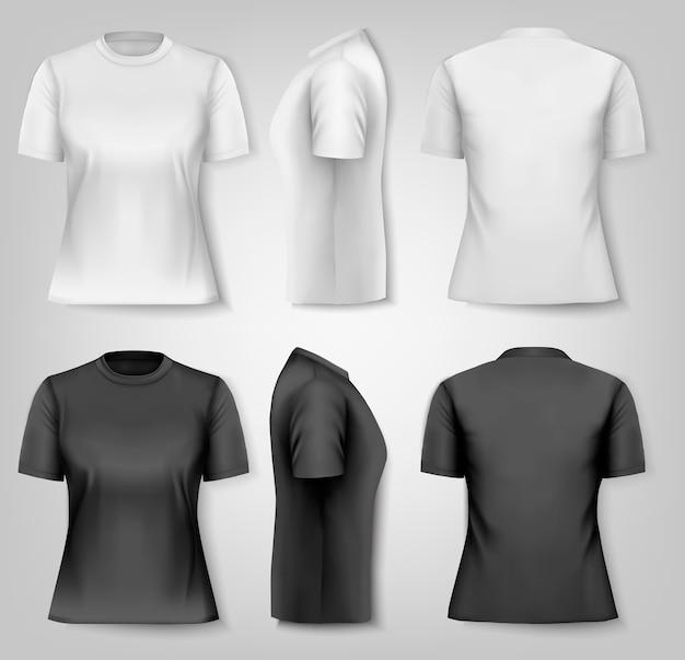 Camisetas femininas com espaço de texto de amostra.