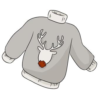 Camisola de inverno hipster de veado de natal