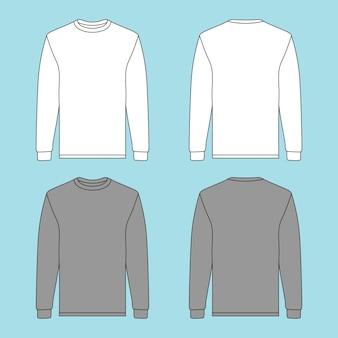 Camisola de manga comprida com duas cores diferentes