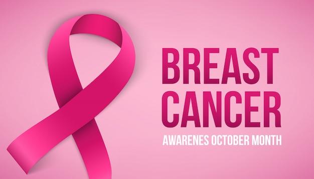Campanha de conscientização sobre o câncer de mama.