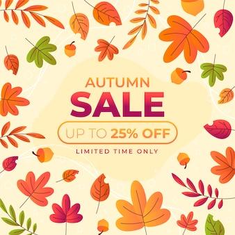 Campanha de outono para o conceito de venda