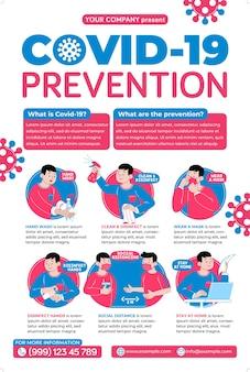 Campanha de pôsteres de prevenção covid19