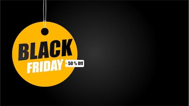 Campanha de promoção da black friday. cupons amarelos com etiquetas de desconto.