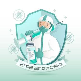 Campanha de vacinação de gradiente ilustrada