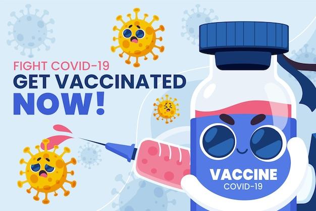 Campanha de vacinação plana orgânica