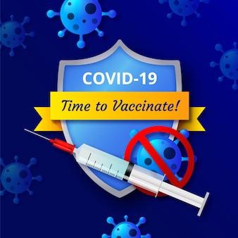 Campanha de vacinação realista