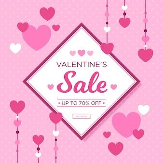 Campanha de venda de design plano no dia dos namorados