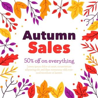 Campanha de venda de outono
