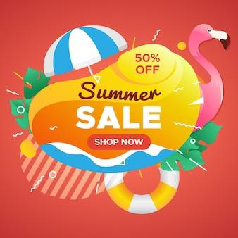 Campanha de venda de verão